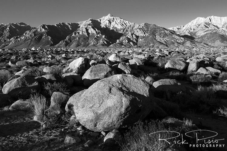 Mt. Williamson, located in California's Eastern Sierra Nevada near the site of the Manzanar War Relocation Center, at sunrise.