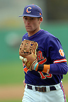 Clemson infielder Brad Miller during a game versus the Boston College Eagles at Shea Field in Boston, Massachusetts on April 16, 2011.  Photo by Ken Babbitt /Four Seam Images