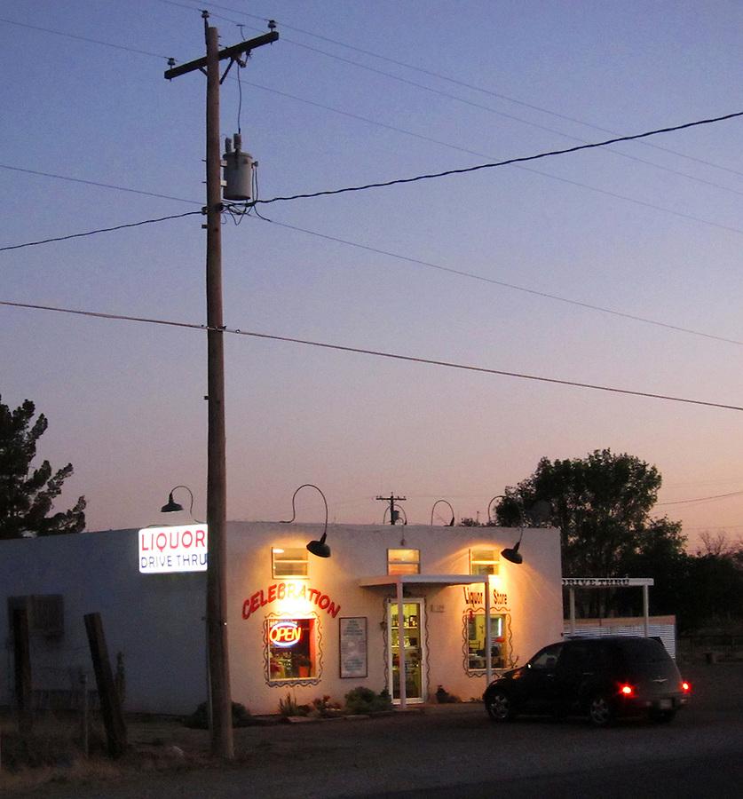 Liquor store in Marfa, Texas