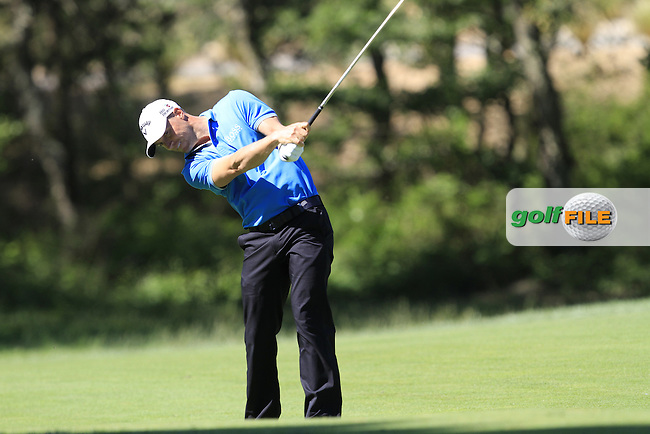 Alex Noren (SWE) on the 15th during Thursday's Round 1 of The Open De Espana at The PGA Catalunya Resort. 15th May 2014.<br /> Picture:  Thos Caffrey / www.golffile.ie