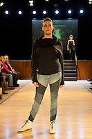 Melanie Child, New Zealand Eco Fashion Exposed, Eco Designer Runway at Notre Dame Performing Arts Centre, Lower Hutt, New Zealand on Saturday 26 July 2014. <br /> Photo by Masanori Udagawa. <br /> www.photowellington.photoshelter.com.