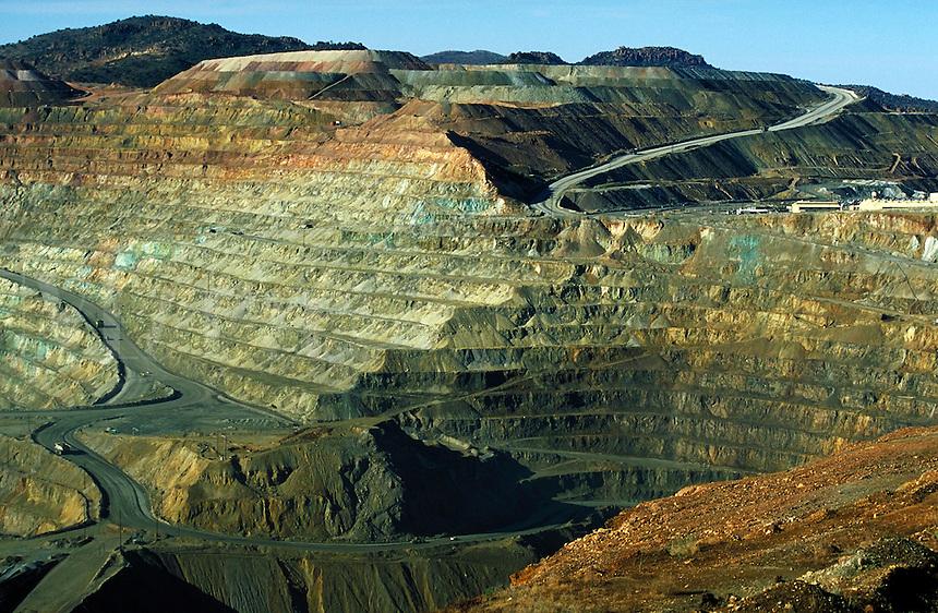 Santa Rita Copper Mine in New Mexico. Silver City NM USA.