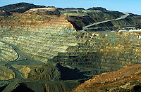 Santa Rita Copper Mine in New Mexico. Silver City NM USA.