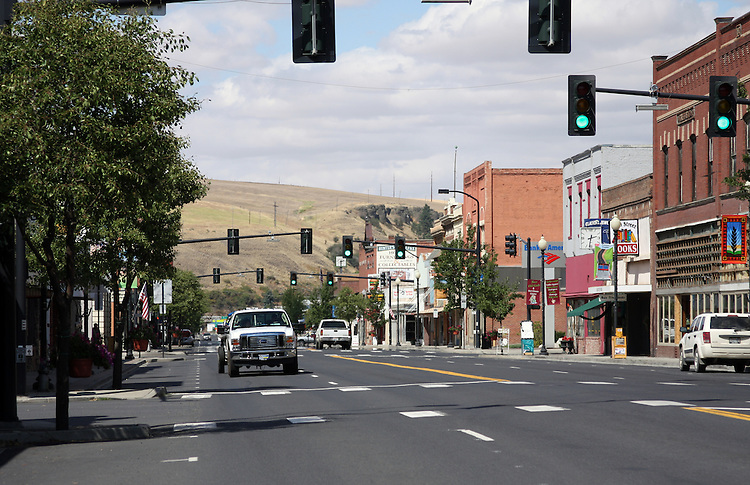 Downtown Colfax, Washington.