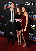 "11 March 2019 - Hollywood, California - Ol Parker, Nico Paker, Thandie Newton. ""Dumbo"" Los Angeles Premiere held at Ray Dolby Ballroom. Photo Credit: Birdie Thompson/AdMedia"