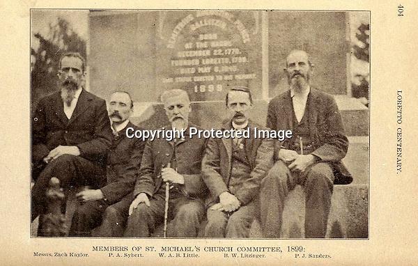Bernard W. Litzinger (1851). Photo from 'Souvenir of Loretto Centenary' published in 1899  -  1899<br /> <br /> Conrad&gt;Leonard&gt;Anthony&gt;William&gt;Bernard W.