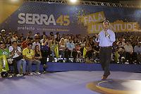 """SAO PAULO, 02 DE SETEMBRO DE 2012. ELEICAO 2012 JOSE SERRA.  O candidato do PSD a vice prefeitura de Sao Paulo, Alexandre Schneider, durante o encontro """"Fala, juventude"""" em que foi sabatinado por jovens sobre diversos temas, no  Hsbc Arena,  em Santo Amaro,  na zona sul da capital paulista na tarde  deste domingo. FOTO ADRIANA SPACA - BRAZIL PHOTO PRESS"""