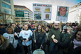 Unternehmer protestieren gegen durch die Partei ANO unter Leitung von Adrej Babis eingeführten elektronischen Registrierkassen in Tschechien. Diese leiten die Umsätze automatisch an die zuständigen Finanzbehörden weiter. 25. Februar 2017.