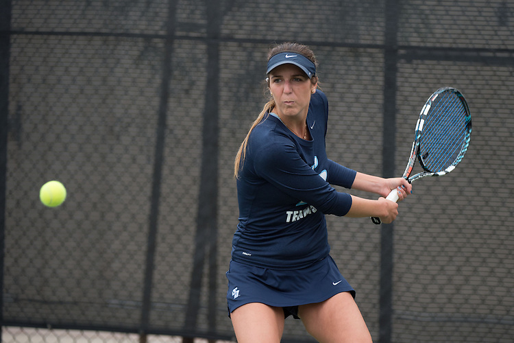 April 22, 2015; San Diego, CA, USA; San Diego Toreros tennis player Shani Blecher during the WCC Tennis Championships at Barnes Tennis Center.