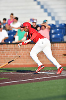 Johnson City Cardinals Malcom Nunez (54) runs to first base during game one of the Appalachian League Championship Series against the Burlington Royals at TVA Credit Union Ballpark on September 2, 2019 in Johnson City, Tennessee. The Royals defeated the Cardinals 9-2 to take the series lead 1-0. (Tony Farlow/Four Seam Images)