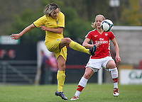 Luci Martinkova clears for Sparta Prague - Arsenal Ladies vs Sparta Prague - UEFA Women's Champions League at Boreham Wood FC - 11/11/09 - MANDATORY CREDIT: Gavin Ellis/TGSPHOTO - Self billing applies where appropriate - Tel: 0845 094 6026