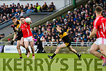 Gavin White, Dr Crokes in action against Paudie Clifford, East Kerry  during the Kerry County Senior Club Football Championship Final match between East Kerry and Dr. Crokes at Austin Stack Park in Tralee, Kerry.