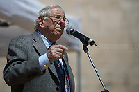 """Rodolfo Lai (Carabiniere & Antifascist Partizan. Member of the Partigiani: the Italian Resistance during WWII).<br /> <br /> Rome, 25/04/2018. Today, to mark the 73rd Anniversary of the Italian Liberation from nazi-fascism ('Liberazione'), ANED Roma & ANPI Roma (National Association of Italian Partizans) held a march ('Corteo') from Garbatella to Piazzale Ostiense where a rally took place attended by Partizans, Veterans and politicians – including the Mayor of Rome and the President of Lazio's Region. FOR THE FULL CAPTIONS PLEASE CHECK """"Photo Stories - 2010 to Today"""" 25.04.2018."""