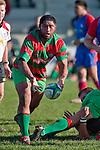 Kojak Faioso passes from a ruck. Counties Manukau Premier Club Rugby game between Waiuku & Ardmore Marist played at Waiuku on Saturday 20th June, 2009. Waiuku won the game 28 - 25.