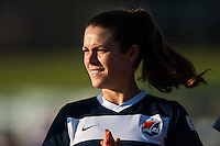 Sky Blue FC forward Kelley O'Hara (19). The Western New York Flash defeated Sky Blue FC 3-0 during a National Women's Soccer League (NWSL) match at Yurcak Field in Piscataway, NJ, on June 8, 2013.