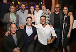 David Cromer, Itamar Moses and David Yazbek with 'The Band's Visit' team attends the 2017 New York Drama Critics' Circle Awards Reception at Feinstein's / 54 Below on 5/18/2017 in New York City.