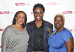 S. Epatha Merkerson, playwright Billy Porter and Lillias White attend the 'While I Yet Live' Meet & Greet at Primary Stages Rehearsal Studio on September 12, 2014 in New York City