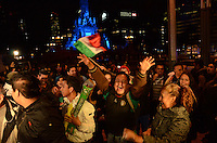 Mexico, DF November 20. 13. Mexicans celebrate at the Angel of Independence, the victory of the Mexican National soccer Team 4-2 against New Zealand. Photo by Miguel Angel Pantaleon/VIEWpress