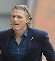 Gareth Ainsworth (Manager) of Wycombe Wanderers during the Sky Bet League 2 match between Morecambe and Wycombe Wanderers at the Globe Arena, Morecambe, England on 29 April 2017. Photo by Stephen Gaunt / PRiME Media Images.