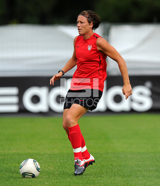 Abby Wambach during a training session at the FIFA Women's World Cup 2011 in Germany in Dresden, Germany on June 23th, 2011.