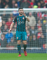 Southampton's Shane Long during the EPL - Premier League match between Arsenal and Southampton at the Emirates Stadium, London, England on 8 April 2018. Photo by Andrew Aleksiejczuk / PRiME Media Images.