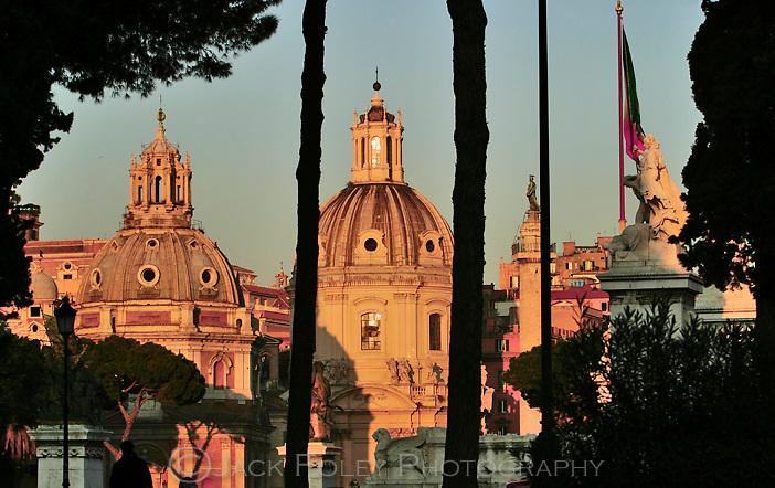 Church Maria al Foro Traiano at sunset, Rome, Italy