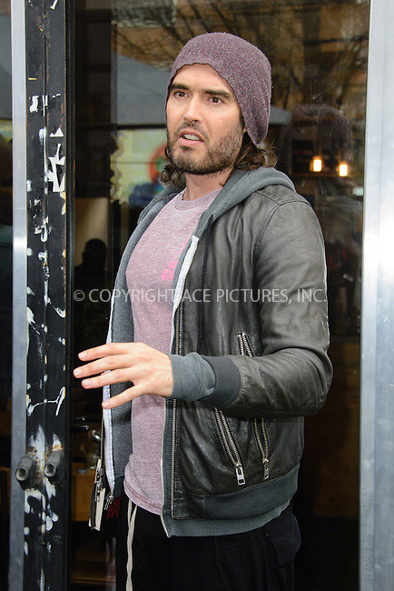 WWW.ACEPIXS.COM<br /> <br /> March 26 2015, New York City<br /> <br /> Russell Brand opens the Trew Era Cafe on March 26, 2015 in London<br /> <br /> By Line: Famous/ACE Pictures<br /> <br /> <br /> ACE Pictures, Inc.<br /> tel: 646 769 0430<br /> Email: info@acepixs.com<br /> www.acepixs.com