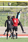 Palos Verdes, CA 02/03/12 - unidentified Palos Verdes player(s) in action during the Peninsula vs Palos Verdes boys varsity soccer game.