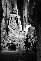 Statue of Buddha in a cave in the Marble Mountains, Da Nang, Veitnam