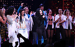Stephanie J. Block, Micaela diamond, Teal Wicks, Michael Berresse and Cher with cast during the Broadway Opening Night Curtain Call of 'The Cher Show'  at Neil Simon Theatre on December 3, 2018 in New York City.
