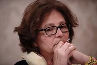 Roma, 3 Aprile 2017<br /> Paola Regeni, la mamma di Giulio.<br /> Conferenza stampa al Senato della famiglia di Giulio Regeni, il giovane ricercatore scomparso e trovato morto con evidenti segni di torture in Egitto a febbraio del 2016