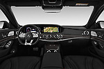 Stock photo of straight dashboard view of a 2018 Mercedes Benz S Class Base 4 Door Sedan