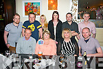 FAB FIFTY: Helen Doody, Abbeyfeale (seated 2nd left) who celebrated her 50th birthday in Lord Kenmare's, Killarney, Saturday night last, pictured were front l-r: Jim and Helen Doody with Mary and James Delee. Back l-r: Declan and Mark Doody, Lisa Reidy, Sandra O'Carroll with Mike and Jonathon Doody.