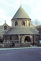 Cambridge: The Round Church--early 12th century but substantially restored, 19th C. Photo '82.