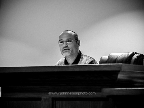 Lake Station Mayor Christopher Anderson, at a city council meeting.