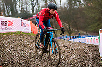 Picture by Alex Whitehead/SWpix.com - 02/02/2018 - Cycling - 2018 UCI Cyclo-Cross World Championships - Valkenburg, The Netherlands - Great Britain's Harriet Harnden in action during a practice session.