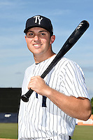 Tampa Yankees third baseman Eric Jagielo (20) poses for a photo on April 14, 2014 at George M. Steinbrenner Field in Tampa, Florida.  (Mike Janes/Four Seam Images)