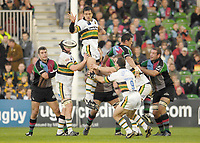 Twickenham. GREAT BRITAIN, Saints, Daniel BROWNE passed the line out ball, during the, Guinness Premiership game between, NEC Harlequins and Northamption Saints, on Sat., 04/11/2006, played at the Twickenham Stoop, England. Photo, Peter Spurrier/Intersport-images].....