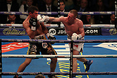 2nd February 2019 The O2 Arena, London, England; Boxing, European Super-Welterweight Championship, Sergio Garcia versus Ted Cheeseman; Ted Cheeseman catches Sergio Garcia with a right hook