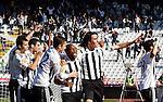 Almami da Silva Moreira of Partizan Belgrade, center and Cleverson Cordova Cleo, celebrate his goal, during the Serbian League soccer match in Belgrade, Serbia, Saturday, October  24, 2010. (Srdjan Stevanovic/Starsportphoto.com)