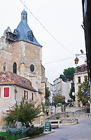 The St Jacques church on the old town square. on Place Pelissiere Square Bergerac Dordogne France