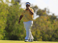 Kiradech Aphibarnrat (THA) in action on the 18th during Round 2 of the ISPS Handa World Super 6 Perth at Lake Karrinyup Country Club on the Friday 9th February 2018.<br />