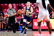 College Park, MD - NOV 29, 2017: Georgia Tech Yellow Jackets guard Lotta-Maj Lahtinen (31) brings the ball up court during ACC/Big Ten Challenge game between Gerogia Tech and the No. 7 ranked Maryland Terrapins. Maryland defeated The Yellow Jackets 67-54 at the XFINITY Center in College Park, MD.  (Photo by Phil Peters/Media Images International)