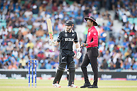 Kane Williamson (New Zealand) acknowledges his half century during India vs New Zealand, ICC World Cup Warm-Up Match Cricket at the Kia Oval on 25th May 2019
