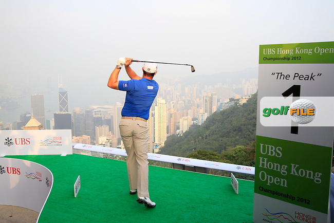 """Three-time Major Winner Padraig Harrington (IRL) during the """"Meet the Players"""" Press Conference and Photo Call held at the Pearl on the Peak, The Peak Tower, Hong Kong ahead of the UBS Hong Kong Open 2012, Hong Kong Golf Club, Fanling, Hong Kong. 13/11/12...(Photo Jenny Matthews/www.golffile.ie)"""