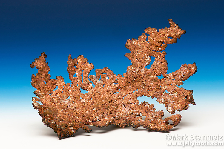 Native copper. From the Ray Mine, Pinal County, Arizona, USA. Approximately 8 cm wide.