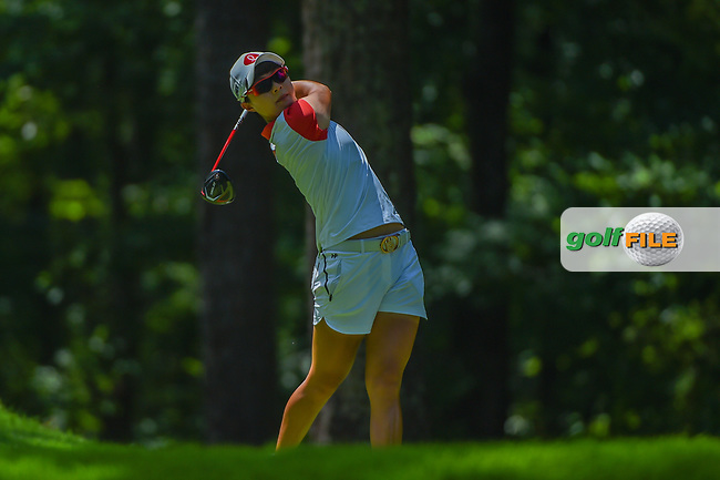 Hyo Joo Kim (KOR) watches her tee shot on 2 during round 3 of the U.S. Women's Open Championship, Shoal Creek Country Club, at Birmingham, Alabama, USA. 6/2/2018.<br /> Picture: Golffile   Ken Murray<br /> <br /> All photo usage must carry mandatory copyright credit (© Golffile   Ken Murray)