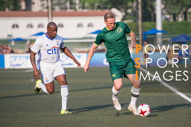 Citi All Stars (in white) vs Wallsend Boys Club (in green) during their Masters Tournament Cup Final match, part of the HKFC Citi Soccer Sevens 2017 on 28 May 2017 at the Hong Kong Football Club, Hong Kong, China. Photo by Marcio Rodrigo Machado / Power Sport Images