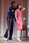 """Eloy Azorin and Begoña Maestre during theater play of """"Una gata sobre un tejado de Cinc caliente"""" at Reina Victoria theater in Madrid, Spain. March 15, 2017. (ALTERPHOTOS/BorjaB.Hojas)"""