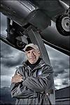 Bex, le 8 mars 2012, Yves Rossi, dit Fusionman, nous parle de cet avion de guerre le Grippen, avion Suédois. © sedrik nemeth, armee aviation